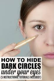 teach you how to cover dark circles
