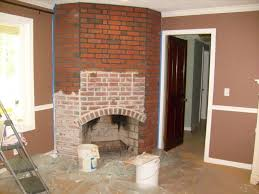 whitewash fireplace with dark grout