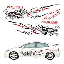 1 Pair Car Black Red Vinyl Graphic Stickers Faucet Flame Totem Diy Decals Sticker For Suv Car Body Decoration Car Stickers Aliexpress
