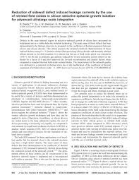 Reduction of sidewall defect induced leakage currents by the use of ...