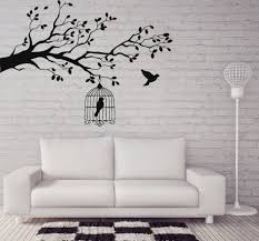 Caged Bird Tree Branch Wall Stickers Vinyl Wall Decal Animals And Birds Wall Stickers Let Bird Free Decor Bedrooms Mural Sa212 Buy At The Price Of 4 98 In Aliexpress Com Imall Com