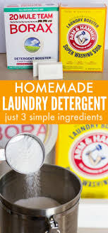 3 ing homemade laundry detergent