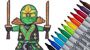Lego Ninjago Coloring page 2016 New HD Video for Kids - YouTube