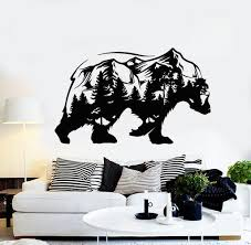 Nature And Trees Wall Vinyl Decals Tagged Bear Wall Decal Wallstickers4you