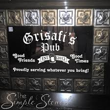 decorate your bar area with this