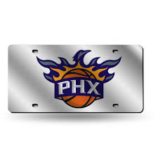 Rico Phoenix Suns Silver Laser Auto Tag