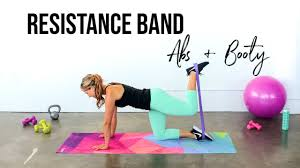 resistance band abs booty workout