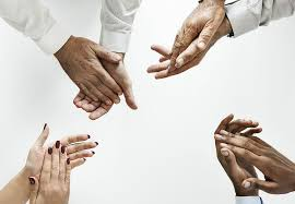 hand clapping against white background