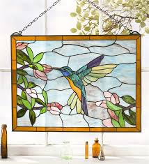stained glass window wall hanging