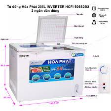 Tủ đông Hòa Phát Inverter HCFI 506S2Đ2, tủ mini 2 ngăn 205L ? Giá mới nhất tại  Đà Nẵng