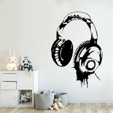 Game Headset Wall Decal Eat Sleep Game Wall Decor Gamer Headphone Vinyl Wall Stickers Kids Room Playroom Wall Art Poster Wall Stickers Aliexpress