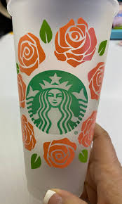Rose Circle For Starbucks Cold Cup Rose Vinyl Decal Sticker Etsy In 2020 Personalized Vinyl Decal Vinyl Decals Vinyl Decal Stickers