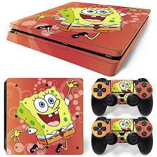 Spongebob Squarepants Ps4 Slim Vinyl Skin Sticker Decal Cover For Sony Playstation 4 Ps4 Slim Console Controller Check O Ps4 Slim Console Ps4 Slim Spongebob