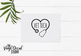 Veterinarian Tech Vet Tech Decal Animal Care Vet Tech Vinyl Decal Coffee Mug Decal Wine Glass Decal Tumbler Deca Wine Glass Decals Vet Tech Tumbler Decal