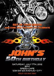 Motorcycle Invitation Printable File Diy Bike Birthday Invitation