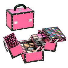 makeup kit with applicators and brushes