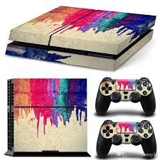 2020 2019 Arrkeo Painting Vinyl Cover Decal Ps4 Skin Sticker For Sony Playstation 4 Console 2 Controller Skins Stickers Colourful From Danny16 11 93 Dhgate Com