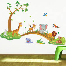 Kids Wall Decal Animals Kids Decal Kids Room Decal Kids Etsy