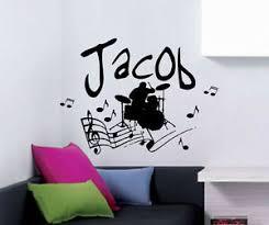 Rock Star Vinyl Wall Decal Music Band Wall Art Ebay