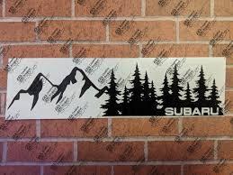 Subaru Treeline Forester Car Decal Etsy