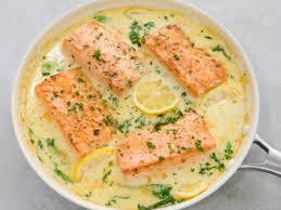 Pan-Fried Salmon with Creamy Garlic ...