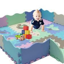 25pcs Lot Children S Rug Cartoon Animal Pattern Carpet Eva Foam Puzzle Mats Baby Play Mat Toys Floor Playmat With Fence 30 30 Cm Play Mats Aliexpress