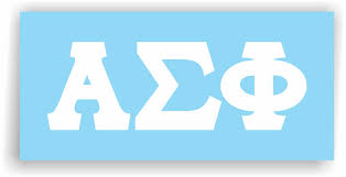 Alpha Sigma Phi Decal For Car Laptop Or Anywhere Vinyl Decal In 2 Greek Apparel And Hobbies