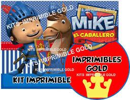 Kit Imprimible Mike El Caballero Invitaciones Y Mas 89 99 En