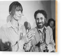 Abbie Hoffman And Girlfriend, Johanna Wood Print by New York Daily News  Archive