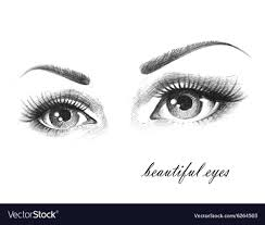 beautiful eyes royalty free vector
