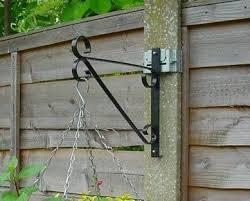 Pf3 Black With Universal Bracket 2009 Wood Fence Post Concrete Fence Galvanized Fence Panels