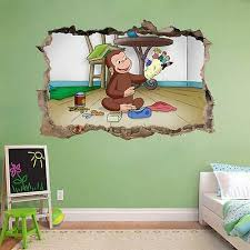 Curious George Smashed Wall Decal Graphic Wall Sticker Home Decor Art H403 8 99 Picclick