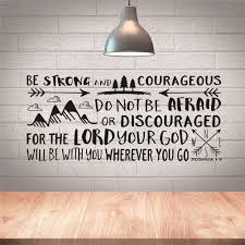 Buy Quote Of Bible Verse Joshua 1 9 Wall Sticker Vinyl Decals Be Strong And Courageous Words Boy Kids Room Home Decor Wallpapers Online At Low Prices In India Amazon In