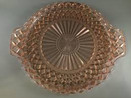 waterford waffle pink cake plate