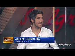 Taboola CEO Adam Singolda on ad mergers and Facebook competition - YouTube