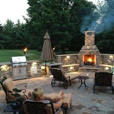 outdoor fireplace thinking a pizza