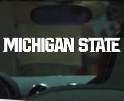 Michigan State Sticker Michigan State Wordmark Vinyl Car Decal Nudge Printing