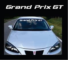 Pontiac Grand Prix Gt Windshield Banner Decal Sticker Custom Sticker Shop