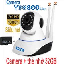 Camera IP yoosee 3 râu tặng thẻ 32Gb, Camera giám sát chống trộm kèm thẻ  nhớ 32Gb, giá tốt nhất 650,000đ! Mua nhanh tay!