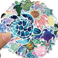 41pcs Sea Turtle Stickers Diy Decoration Laptop Cartoon Stickers For Skateboard Car Decal Accessories Waterproof Sticker Wish