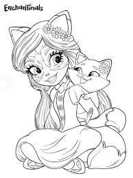 Kids N Fun Kleurplaat Enchantimals Felicity Fox And Flick