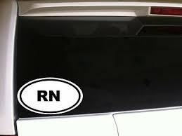 Rn Nurse Car Decal Vinyl Window Sticker 6 E3 Scrubs Hospital Doctor School 87169278327 Ebay