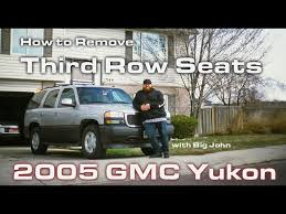 how to remove rear third row seats