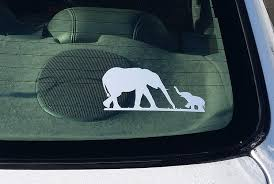 Amazon Com Elephant Car Sticker With Baby Elephant Family White Vinyl Decal Sticker Label For Car Window Computer Ipad Wall Etc Everything Else