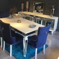dinner table lux mirror furniture