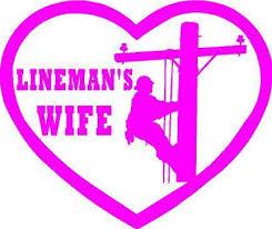 I Love My Lineman Sticker Plt Vinyl Decal Powerline Technician Husband Electric