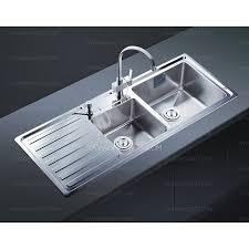 modern style double bowl kitchen sink