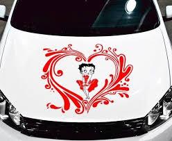 Betty Boop Car Bonnet Side Sticker Girls Vinyl Graphic Decal Window Fun Novelty Archives Midweek Com