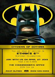 Lego Batman Invitaciones De Batman Cumpleanos Batman Fiestas