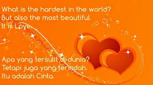 kata kata bijak bahasa inggris beserta artinya tentang cinta